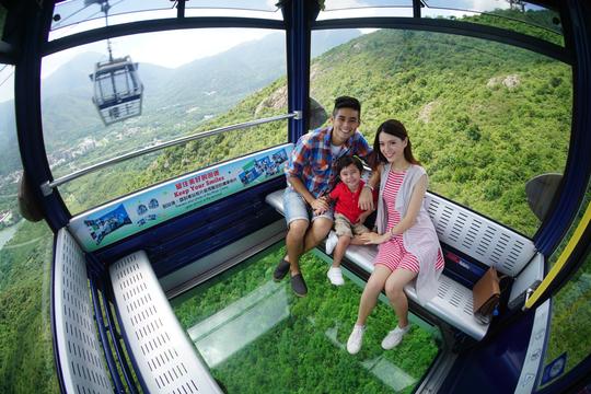 [홍콩] 옹핑 360 케이블카 크리스탈캐빈 왕복권(스낵