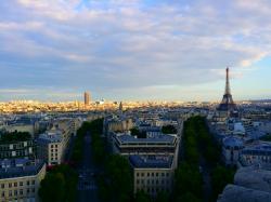 파리_개선문 위 에펠탑
