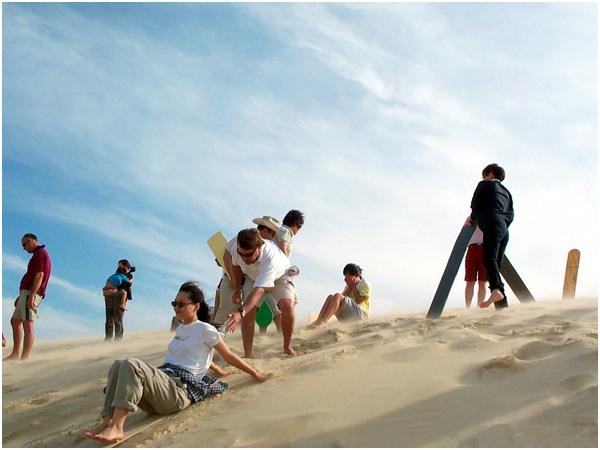 모래썰매(sand boarding)