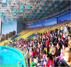 극지해양세계_돌고래 쇼 관중석